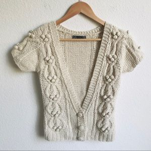 ZARA Medium Wool blend cardigan sweater